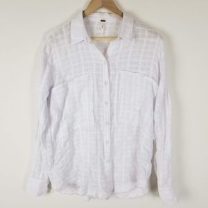 Free People button down shirt Sz S A13